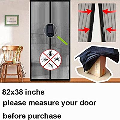 """USA Seller 26 (13 pairs) magnets Hands Free Magic Mesh Screen Net Door with magnets Anti Mosquito Bug Curtain Keep the Bug Insect and Fly Out fit up to 38"""" x 82"""" inchs door or window by Cafolo"""