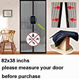 "Hands Free Magic Mesh Screen Net Door with magnets Anti Mosquito Bug Curtain Keep the Bug Insect and Fly Out fit up to 38"" x 82"" inchs door or window by Cafolo"