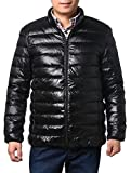 Multicolor Jackets Lightweight Puffer Jacket,Packable Down Jacket For Men (L, Black)