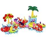 Ireav 160pcs Children's Plastic Building Blocks Toys Kids DIY Big Forest Creative Educational Toy Gear Blocks Toys for Children Gift