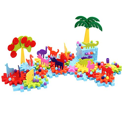 Ireav 160pcs Children's Plastic Building Blocks Toys Kids DIY Big Forest Creative Educational Toy Gear Blocks Toys for Children Gift by Ireav