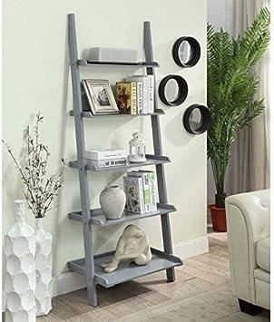 De Home Design - Estantería esquinera, Escalera, 5 Niveles, Madera, Gris: Amazon.es: Juguetes y juegos