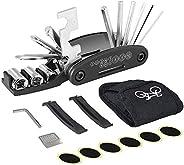 Bike Repair Tool Kit, Yakaon 16 in 1 Multifunction Bicycle Repair Kit Heat-Treated Cycling Maintenance Tool wi