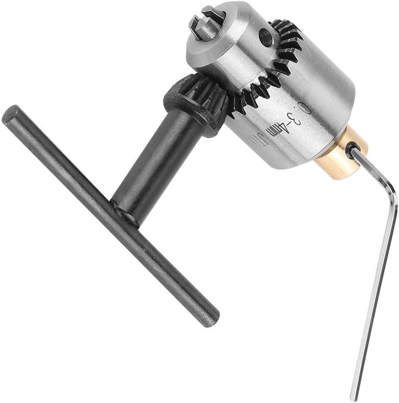 Portabrocas JTO Mini portabrocas c/ónico con llave para portabrocas para tornos Taladro el/éctrico y prensas de taladro 0.3-4 mm