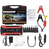 HERCHR Booster, 89800mAh Car Jump Starter Pack LCD 4 USB Cargador de batería Power Bank Nuevo, Negro
