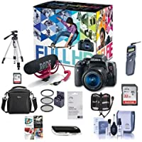 Canon T6i Video Creator Kit with EF-S 18-55mm f/3.5-5.6 IS STM Lens, Rode VIDEOMIC GO Mic, 32GB SDHC Card - Bundle with 32GB SDHCCard, Remote Trigger, Camera Case, Tripod, Pro Software and More