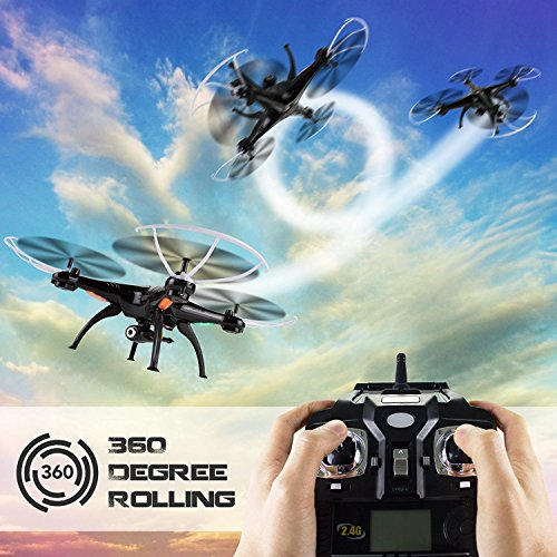 Cheerwing Syma X5SW-V3 FPV 2.4Ghz 4CH 6-Axis Gyro RC Headless Quadcopter Drone UFO with HD Wifi Camera (Black)