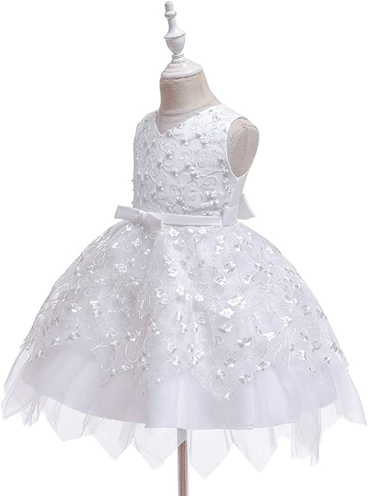 FKKFYY Baby Little Girls Ruffle Dresses Christmas Party Dress