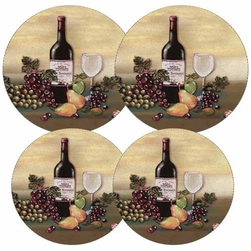 Electric Stove Burner Covers, Set of 4, Wine and Vines, Rest