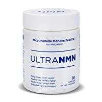 UltraNMN Nicotinamide Mononucleotide NAD+ Supplement,Vitamin B3 Family, 260 mg per Serving - NAD+ Precursor Help Promote DNA Repair,Boost Energy,Longevity,Improve Metabolism - 60 Capsules
