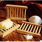 LuckyFine Ripiano Di Sapone In Bambù Naturale Portasapone Doccia Portasapone per Bagno