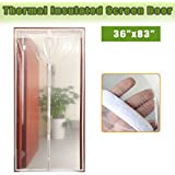 "Transparent Magnetic Screen Door Curtain Prevent Air Conditioning Loss Help Saving Electricity & Money,Enjoy Cool Summer & Warm Winter,Thermal and Insulated Auto Closer Door Curtain Fits Door 34""×82"""