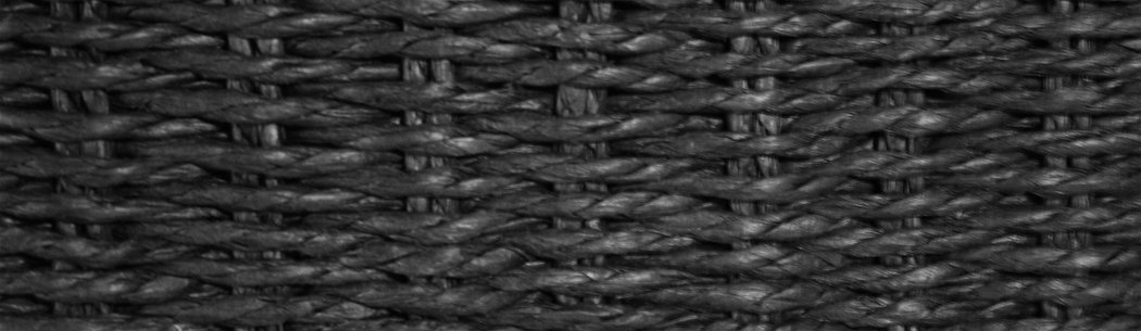 "KMH Practical Storage Basket ""JYTTE"" Rattan Effect, Black with White Lining, 204047 KMH mbH"