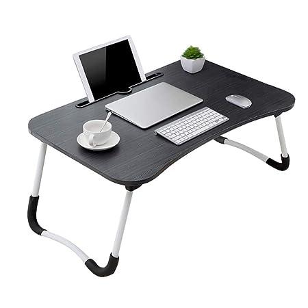 DOKJ Soporte para portátil, Mesa de Cama Plegable para portátil ...