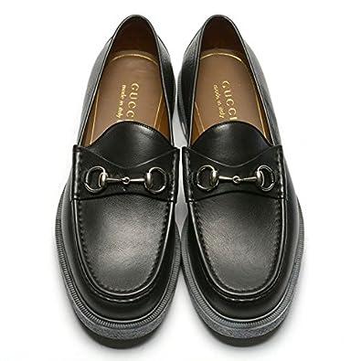 best sneakers 7daf7 da2c6 Amazon | GUCCI (グッチ) レザーシューズ ビットローファー ...