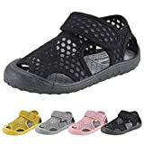 KUNSHOP Breathable Mesh Running Sneakers Sport Beach Sandals Hook and Loop Closed Toe Water Shoes for Kids Boy Girl Toddler Baby
