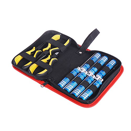 Jrelecs 10in 1 Tool Kit Screwdriver Pliers with Box for Align 450 Helicopter Plane RC Model Car (450 Car)