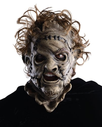 Rubie's Texas Chainsaw Massacre 3D Leatherface Adult 3/4 Mask, Red, One Size
