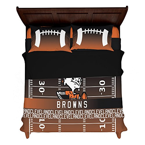 Cleveland Browns Pillow Case (Articouture Customizable Cleveland Football 2nd Generation Fan Made Duvet Bedding Set with Pillowcases (King (2 Shams) 104