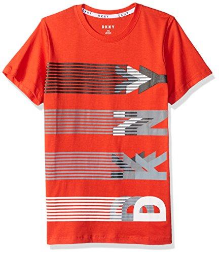DKNY Boys Big Short Sleeve Crew Neck Heather Jersey T-Shirt