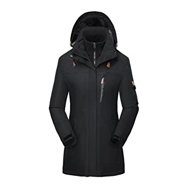 Women 3 in 1 Ski Snow Jacket Outdoor Waterproof Winter Warm Fleece ...