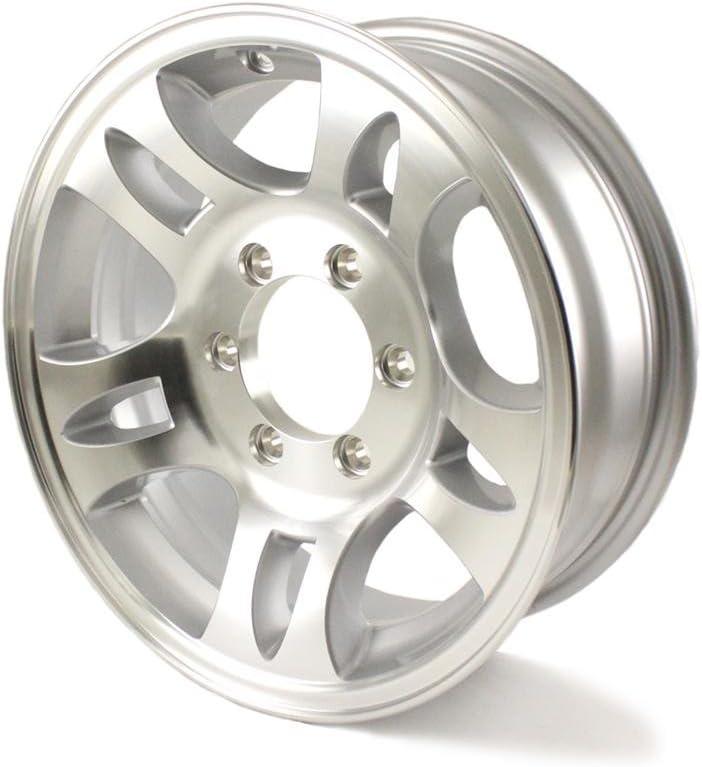 16 Inch Trailer Stock Utility 6 Lug 7 Spoke Aluminum Wheel Rim T02 66655T