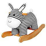 Labebe Baby Rocking Horse Wooden, Plush Rocking Horse, Stripe Donkey Rocking Horse for Baby 1-3 Years, Wooden Rocking Horse/Baby Rocker/Toddler Rocker/Rocking Horse/Baby Boy Rocker/Girl Rocking Horse