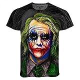 Mens the Joker Batman Heath Ledger All Over Print Tshirt Tee (Medium)