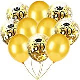 Inkach- Confetti Balloons, 10pcs 12'' Latex Party Balloons for Baby Shower Birthday Decor (G)