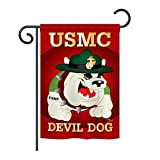 Breeze Decor G158052 Devil Dog Americana Military Impressions Decorative Vertical Garden Flag 13″ x 18.5″ Multi-Color