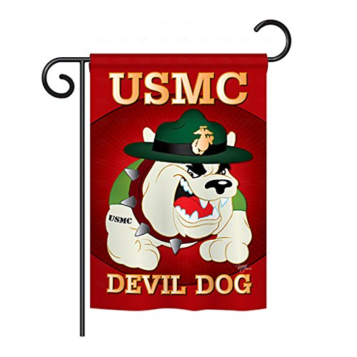 Breeze Decor G158052 Devil Dog Americana Military Impressions Decorative Vertical Garden Flag 13″ x 18.5″ Multi-Color
