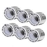 (6-Pack)SpiritLED E26 E27 to E12 Socket Adapter,UL Listed Medium Screw E26 to Candelabra Screw E12 Light Bulb Socket Adapter Converter Reducer (White Color-6pcs /Pack)