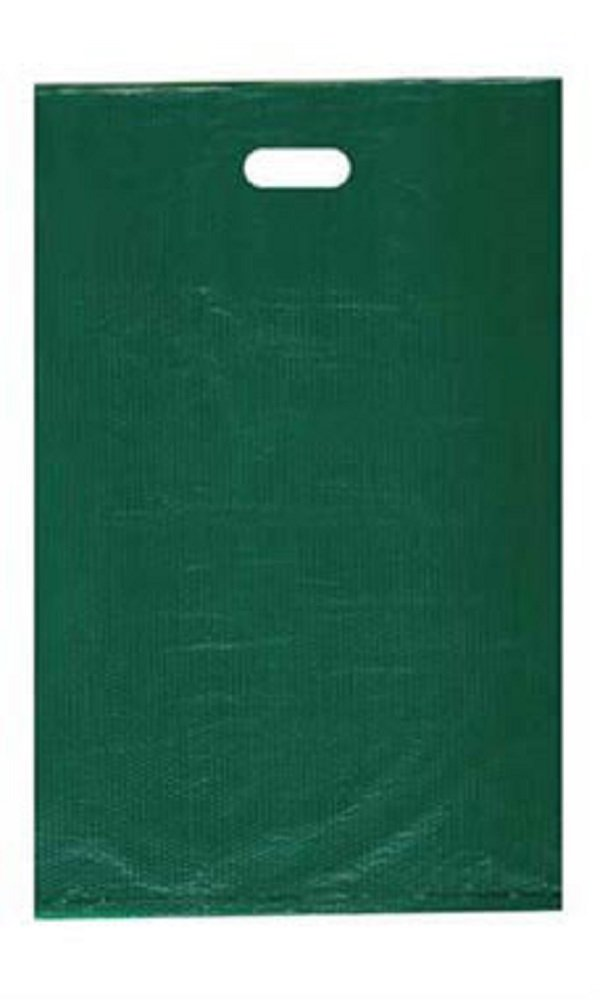 Large High Density Dark Green Plastic Merchandise Bags - Case of 1,000