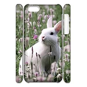 linJUN FENGRabbit 3D-Printed ZLB824330 Customized 3D Phone Case for iphone 4/4s