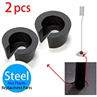 BOSE UFS-20 Speaker Stand Parts - Washer, Custom Made STEEL (not plastic) Washer, Black, 2pcs