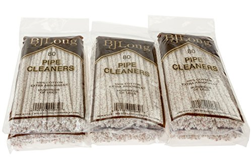BJ Long Pipe Cleaners 80 Count - 6 Pack TP-1427 by BJ Long