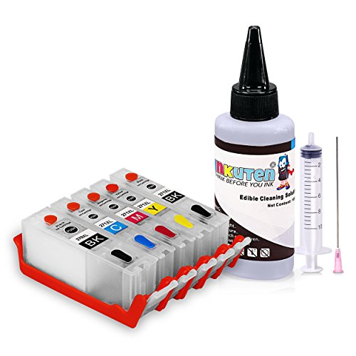 INKUTEN - Edible Cleaning kit for PGI-270/CLI-271 With 100ml Edible Cleaning Solution Compatible with Pixma MG6820, MG6821, MG6822, MG5720, MG5721, MG5722, TS5020, TS6020 Printers -