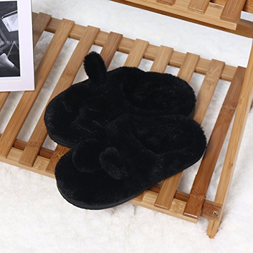 Usine dérapant Directe Black Black Oreille Lapin Anti Nouveau Coton Chaussures Enfants Coton Drag Maison Pantoufles Coton Chaussures Chaud Coton Enfants aA7HwTcHxq