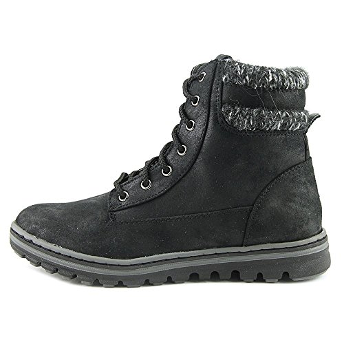 Cliffs by White Mountain Karissa Womens Boot Black Distressed Textile/Sweater 0kDyZFF2h