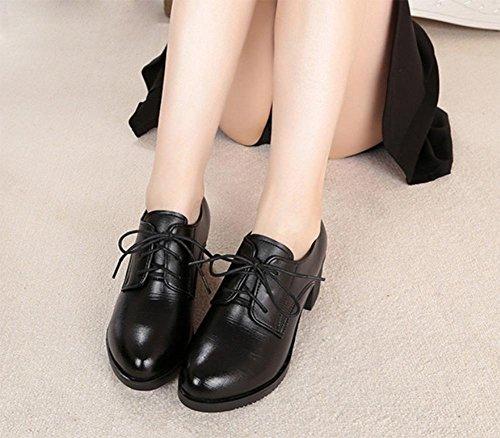 La Sra zapatos de primavera y otoño gruesos con los zapatos de tacón redondas escoge los zapatos zapatos de encaje , US7.5 / EU38 / UK5.5 / CN38