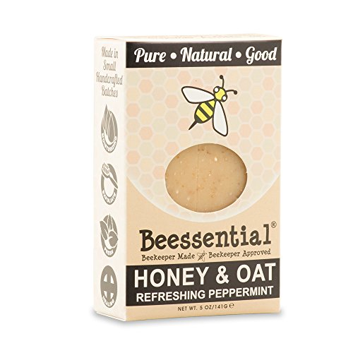 Beessential Refreshing Peppermint Soap, Honey And Oat, 5 Ounce