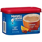 Maxwell House International Café Flavored Instant Coffee, Orange Café, 9.3 Ounce Canister (Pack of 4)