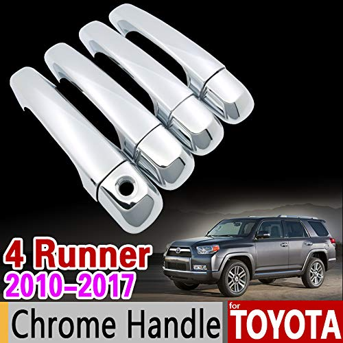 Color Name: Keyless Entry For Toyota 4Runner 2010-2017 Chrome Handle Cover Trim Set For 4 Runner 2011 2012 2013 2014 2015 2016 Accessories Car Styling