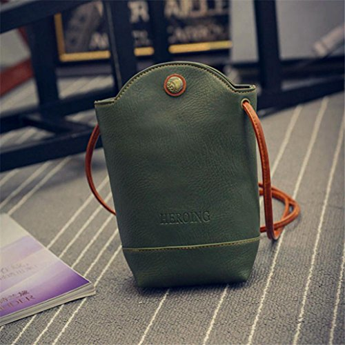 CieKen PU Women Satchel Small Bags Green Crossbody Bags Shoulder Leather Cover Vintage Body Slim for rBFrq