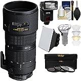Nikon 80-200mm f/2.8D ED AF Zoom-Nikkor Lens with iTTL Flash + Soft Box + Bouncer + 3 Filters Kit for D3300, D5300, D5500, D7100, D7200, D610, D750, D810, D4s Cameras