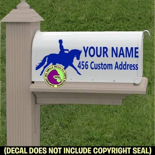 - CUSTOM ADDRESS - Vinyl Decal Sticker E (Dressage Box)