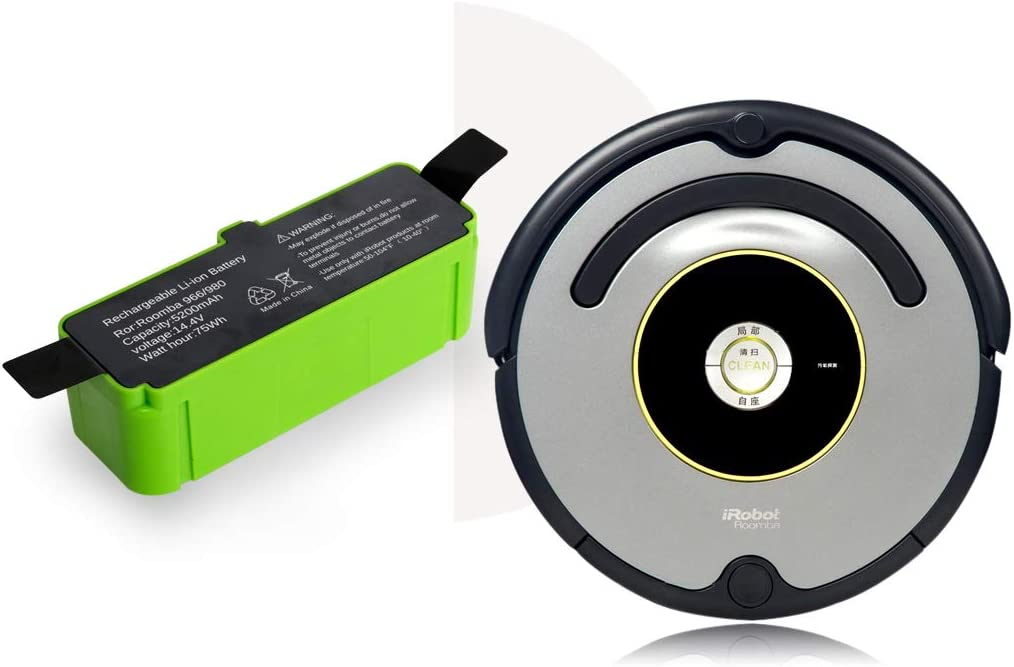 14.4V Mr.batt Lithium-ion Replacement Battery for Roomba 960 895 890 860 695 680 690 640 and 614 Robot Vacuums 5200mAh