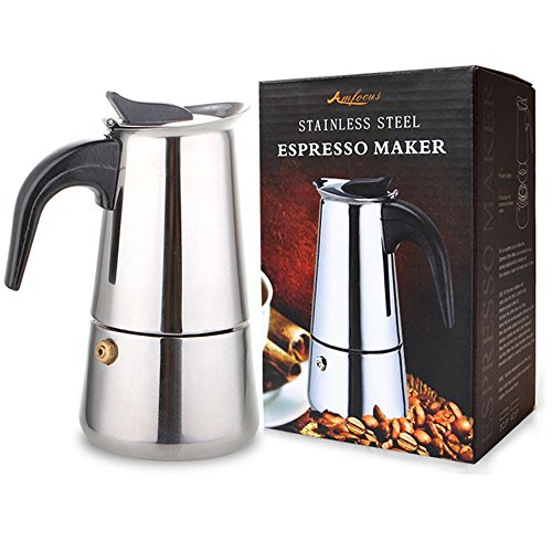 2 Cup/100ml Stainless Steel Moka Espresso Latte Percolator Stove Top Coffee Maker Pot (Italian Coffee Maker 2 Cup compare prices)