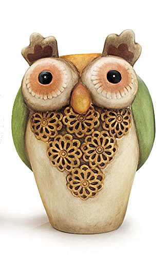 Hand Painted Porcelain Owl Shaped Vases