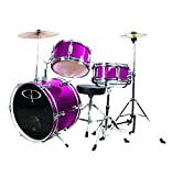 Gp 3 Pc Deluxe Jr Drumset Metal Pink - GP50MPK